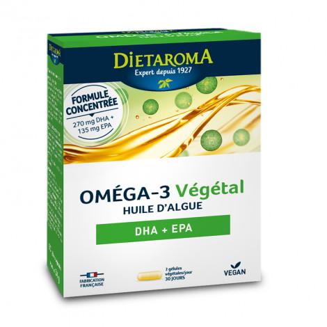 Oméga 3 végétal huile d'algue DHA + EPA