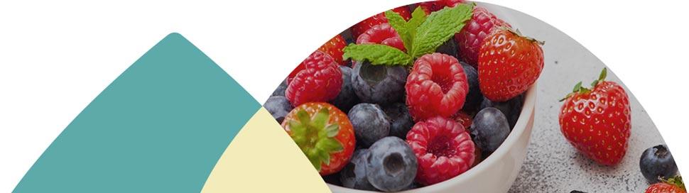 Belle assiette de fruits
